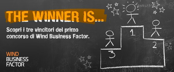 I vincitori del primo concorso Wind Business Factor