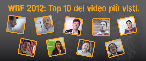 WBF 2012: Top 10 dei video più visti