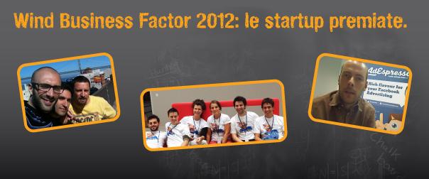 WBF 2012: le startup premiate