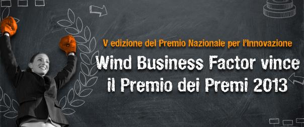 Wind Business si aggiudica il Premio dei Premi con Wind Business Factor!