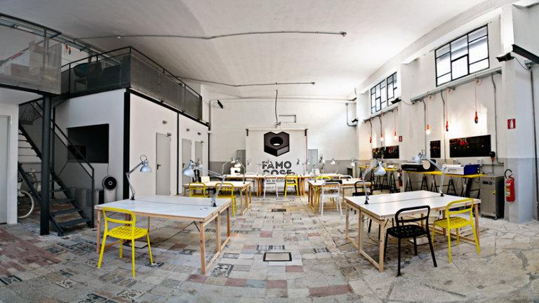Coworking e makerspace in uno unico, bellissimo, spazio: FAMO COSE