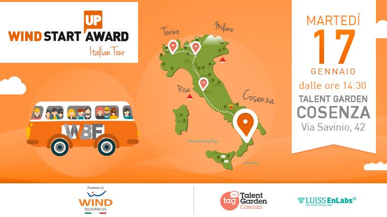 Wind Startup Award | Italian Tour: next stop Cosenza!