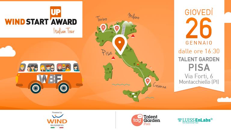 Wind Startup Award | Italian Tour: ultima fermata Pisa!