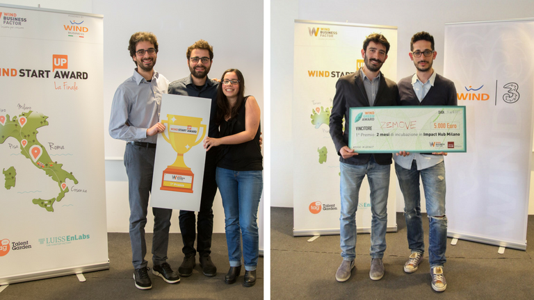 Powahome vince il Wind Startup Award e Zemove il Wind Green Award!